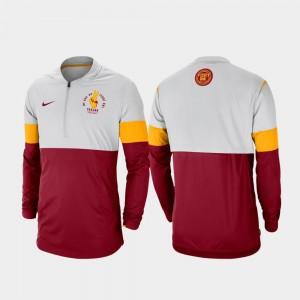 Gray Cardinal USC For Men's Rivalry Football Half-Zip College Jacket