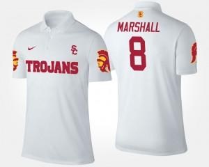 Men's USC Trojan Iman Marshall College Polo #8 White