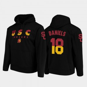 Football Pullover JT Daniels College Hoodie For Men USC Wedge Performance #18 Black