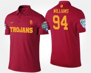 Bowl Game #94 Trojans Leonard Williams College Polo Men Pac-12 Conference Cotton Bowl Cardinal