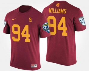 Cardinal Bowl Game USC Mens #94 Pac-12 Conference Cotton Bowl Leonard Williams College T-Shirt