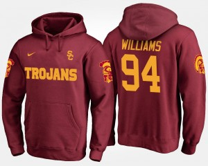 Trojans Leonard Williams College Hoodie For Men #94 Cardinal