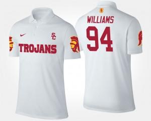 Leonard Williams College Polo #94 White USC Trojan Mens