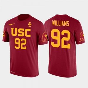 New York Jets Football Future Stars For Men's Red USC Trojan Leonard Williams College T-Shirt #92
