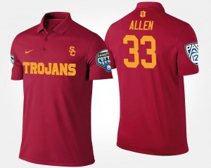 Cardinal Marcus Allen College Polo Pac-12 Conference Cotton Bowl USC Bowl Game #33 For Men