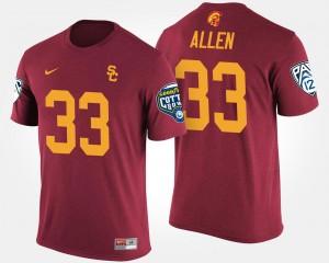 USC #33 Cardinal Bowl Game Pac-12 Conference Cotton Bowl Men's Marcus Allen College T-Shirt