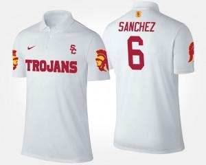 Mark Sanchez College Polo USC Trojans White Men #6