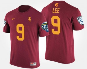 Men's #9 Trojans Marqise Lee College T-Shirt Bowl Game Pac-12 Conference Cotton Bowl Cardinal