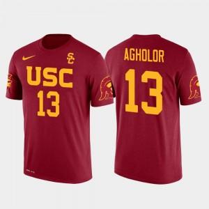 Mens Red Future Stars Nelson Agholor College T-Shirt Philadelphia Eagles Football #13 USC Trojan