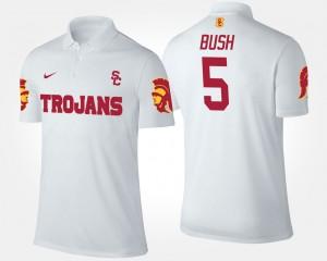 USC Trojans White #5 For Men's Reggie Bush College Polo