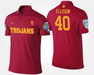 Mens Cardinal Rhett Ellison College Polo #40 Trojans Bowl Game Pac-12 Conference Cotton Bowl
