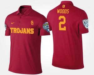 Pac-12 Conference Cotton Bowl Bowl Game Cardinal Men's Robert Woods College Polo #2 USC Trojan