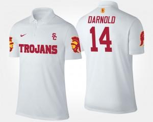 Trojans Sam Darnold College Polo #14 White For Men's