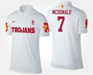 T.J. McDonald College Polo White Trojans #7 For Men's