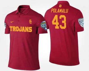 Pac-12 Conference Cotton Bowl #43 Cardinal Bowl Game Troy Polamalu College Polo USC Trojan For Men