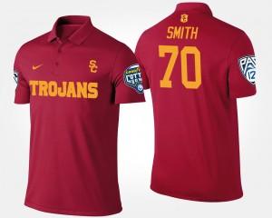 #70 Tyron Smith College Polo Trojans Men's Pac-12 Conference Cotton Bowl Bowl Game Cardinal