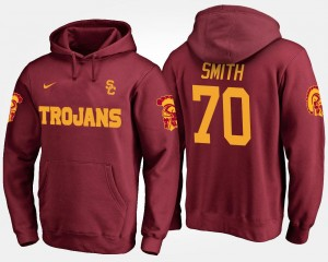 Cardinal For Men's Tyron Smith College Hoodie USC Trojans #70