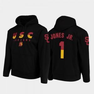 #1 Wedge Performance Trojans For Men Velus Jones Jr. College Hoodie Black Football Pullover