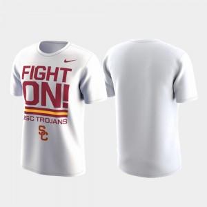 Local Verbiage College T-Shirt White Performance Men's USC Trojan