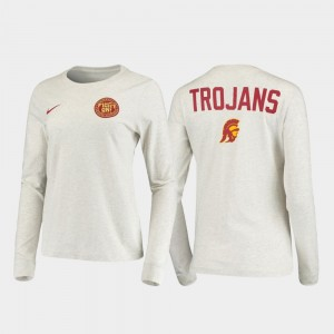 College T-Shirt USC Statement Long Sleeve White Rivalry Mens