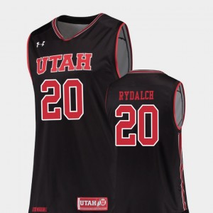 Basketball Beau Rydalch College Jersey Black For Men Utes #20 Replica