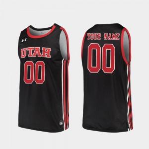 College Customized Jersey Replica Men's Utah Black #00 2019-20 Basketball
