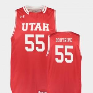 Basketball Devante Doutrive College Jersey #55 For Men Utah Utes Replica Red