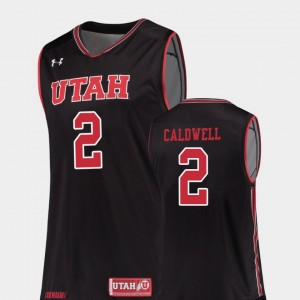 Kolbe Caldwell College Jersey For Men's Black #2 Replica Utah Basketball