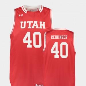 Replica #40 Mens Basketball Utah Utes Red Marc Reininger College Jersey