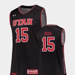 #15 Basketball Utes Mens Nate Duda College Jersey Black Replica