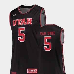Black Basketball #5 For Men's Replica Utah Parker Van Dyke College Jersey