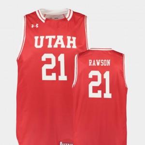 For Men Red Basketball Replica Utah Utes #21 Tyler Rawson College Jersey