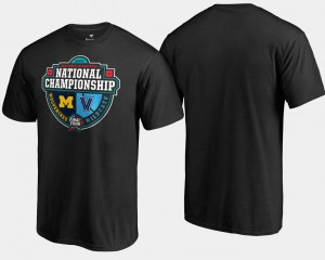 Nova Black College T-Shirt Michigan Wolverines vs. Crossover Matchup 2018 Basketball National Championship For Men's