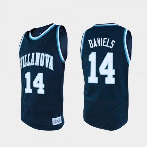 Men Basketball #14 Alumni Caleb Daniels College Jersey Navy Villanova Wildcats