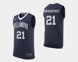 Mens Navy #21 Dhamir Cosby-Roundtree College Jersey Basketball Nova