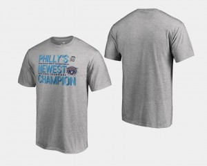 Heather Gray 2018 Flop Nova College T-Shirt For Men Basketball National Champions