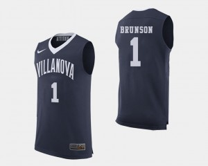 #1 Men's Basketball Wildcats Navy Jalen Brunson College Jersey