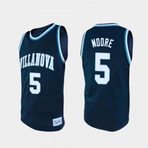 Justin Moore College Jersey Navy #5 For Men Basketball Alumni Villanova University