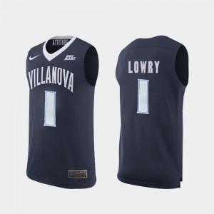 #1 Villanova Men's Replica Navy Basketball Kyle Lowry College Jersey