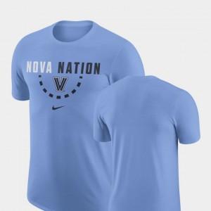 Mens Light Blue College T-Shirt Basketball Team Villanova University