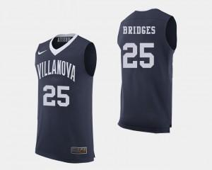 Navy Villanova University Basketball Mikal Bridges College Jersey Mens #25