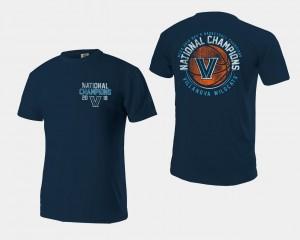 2018 Ball Men's Basketball National Champions Villanova University Navy College T-Shirt