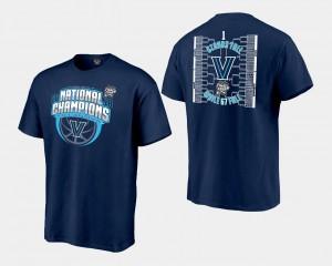 2018 Bracket For Men's Navy Villanova University College T-Shirt Basketball National Champions