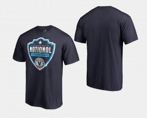 Basketball National Champions Villanova University For Men College T-Shirt Navy 2018 Cut Big & Tall