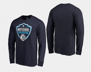 For Men College T-Shirt Nova Basketball National Champions Navy 2018 Cut Long Sleeve