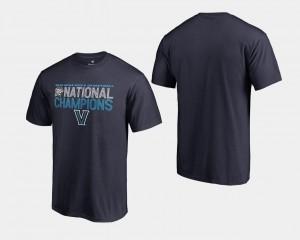 College T-Shirt Basketball National Champions Men's 2018 Dribble Big & Tall Navy Villanova