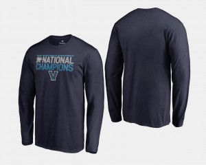 Basketball National Champions Wildcats 2018 Dribble Long Sleeve Navy College T-Shirt For Men
