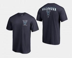 College T-Shirt Basketball National Champions For Men's 2018 Travel Navy Villanova Wildcats