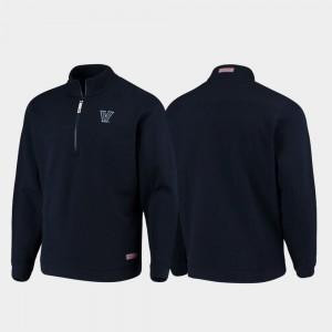For Men College Jacket Villanova Shep Shirt Navy Quarter-Zip