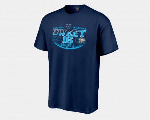 Wildcats Navy Sweet 16 Bound 2018 March Madness Basketball Tournament College T-Shirt For Men